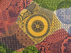 Screen printed African textile design for my 'A' Level project at Chenderit School.