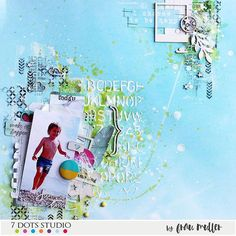 Summer, full of light layout and a video tutorial by @fraushaligina Visit our blog to watch it http://7dotsstudio.com/archives/20908 #7dotsstudio #scrapbooking #tutorial #7dsveranoazul #layout #videotutorial
