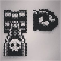 Bullet Bill - Mario perler beads by gago_atchatikayan