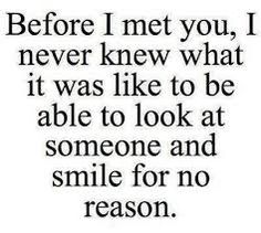 Before I met you...