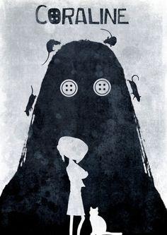 minimalmovieposters:  Coraline by TheDisenchanter  Coraline minimalist poster