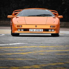 Tsing Yi, Hong Kong One of the many cars arriving on the scene for this Sunday's supercar SMD. This is a rare model, built to celebrate Lamborghini's anniversary. Lamborghini Diablo, Lamborghini Cars, Ferrari, Exotic Sports Cars, Exotic Cars, Maserati, Bugatti, Future Concept Cars, Koenigsegg