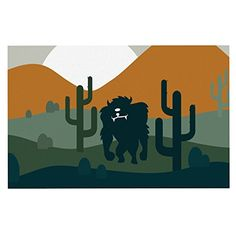 KESS InHouse KESS Original 'Cyclops' Fantasy Creature Dog Place Mat, 13' x 18' *** Find out more details by clicking the image : Dog food container