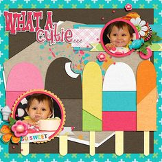 This page was made using the kit Sweets for my Sweets by Tami Miller and Jen Yurko and can be found here: https://www.pickleberrypop.com/shop/product.php?productid=39078&cat=39&page=1 Template is by Brooke Magee