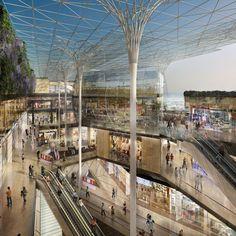 Marseille accueillera bientôt un centre commercial haut de gamme à proximité immédiate du rond-point du Prado dans le 8e arrondissement de la ville. Le programme de cet espace commercial fait partie intégrante du projet d'extension et de couverture du stade vélodrome et de construction d'un programme immobilier.: