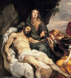 Mary Magdalene played a prominent role in the two most important moments of Jesus' life, portrayed in Pieta by Sir Anthony van Dyck
