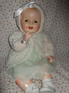 """GREAT BIG DELIGHTFUL CHUBBY 25"""" HAPPY COMPOSITION AND CLOTH BABY DOLL NO RESERVE"""
