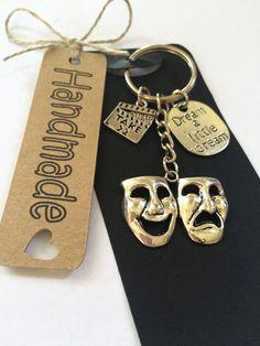 Drama Theatre Gift Keyring Bag Charm Masks by Clarrochas on Etsy https://www.etsy.com/uk/listing/399432571/drama-theatre-gift-keyring-bag-charm