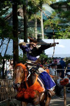 Archery. Yabusame