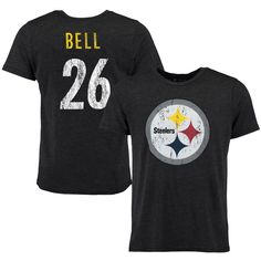 Le'Veon Bell Pittsburgh Steelers Tri-Blend Super Soft T-Shirt - Black