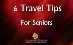 Here are some travel tips for senior citizens, these tips could help older travelers when they go on vacation, proper preparation will ensure the older traveler has an experience they can revel for...