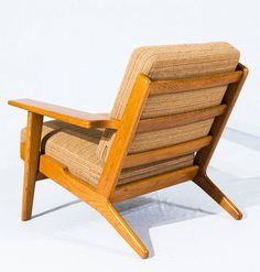 Pair of Hans Wegner GE-290 Lounge Chairs | From a unique collection of antique and modern lounge chairs at https://www.1stdibs.com/furniture/seating/lounge-chairs/