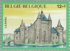 Sello: Castles - Laarne (Bélgica) (Castles) Mi:BE 2246,Sn:BE B1043,Yt:BE 2194,Bel:BE 2194