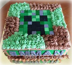 minecraft birthday cake | Minecraft-themed birthday cake | Flickr - Photo Sharing!