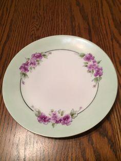 Thomas Sevres Bavaria Hand Painted Purple Violets Decorator Plate…