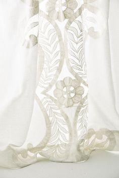 Slide View: 4: Embroidered Lacina Curtain