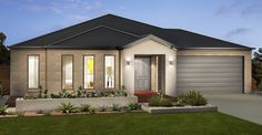 Dennis Home Designs: Hawkesdale - Facade Option 2. Visit www.localbuilders.com.au/builders_nsw.htm to find your ideal home design in New South Wales