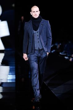 Shop designer clothes, shoes, bags & accessories for Men & Women from all over the world. Armani Men, Emporio Armani, Fashion Show, Mens Fashion, Fashion Design, Modern Luxury, Suit Jacket, Menswear, Coat