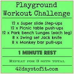 Playground Workout Challenge | 42DaystoFit.com