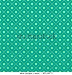 Green Seamless Geometric Pattern with Diamond  Shapes. Vector Illustration by nikifiva, via ShutterStock