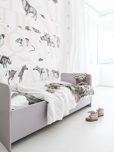 Cool Grey Kids' Rooms