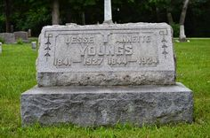 Tombstone Tuesday: Jesse and Annette (Glover) Youngs #genealogy