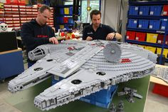 Huge Lego Millennium Falcon at Legoland in Anaheim.