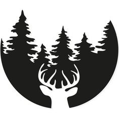 Silhouette Design Store - browse-my-designs Forest Silhouette, Silhouette Design, Deer Head Silhouette, Pumpkin Carving Templates, Circuit Crafts, Forest Design, Stag Head, Wood Burning Art, Scroll Saw Patterns