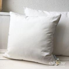 SUMMERTIME CLASSIC COLLECTION | white outdoor & indoor cushions with piping. #outdoor #cushion #white #madeingermany #letthemout #weatherproof #elegant #chillisy #indooroutdoor #indooroutdoorliving #weisse #kissen #polster #allsizes Bed Pillows, Cushions, Shops, Indoor Outdoor Living, Classic Collection, Summertime, Pillow Cases, Elegant, Pillows