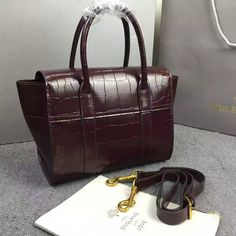 89d09daa9af1 2016 A W Mulberry Small New Bayswater Oxblood Polished Embossed Croc -    Mulberry Outlet UK Team