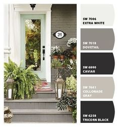 Paint colors from Chip It! by Sherwin-Williams i love the Dovetail grey color for painted brick exterior!                                                                                                                                                     More