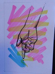 Hand by Jess Tobin Art Work, Street Art, Illustration, Artwork, Work Of Art, Illustrations