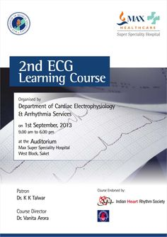 Dr Vanita Arora - 2nd ECG Learning Course_Flyer