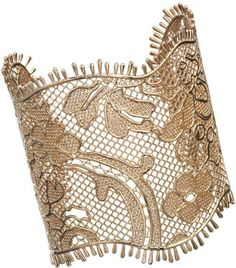 Givenchy Pale Gold Lace Cuff