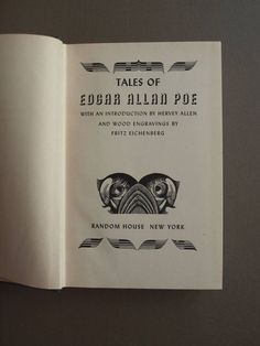 Tales of Edgar Allen Poe 1944 edition Random by EleanorsVintage