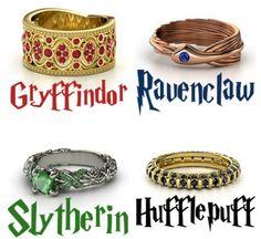Beautiful Hogwarts House Ring Designs