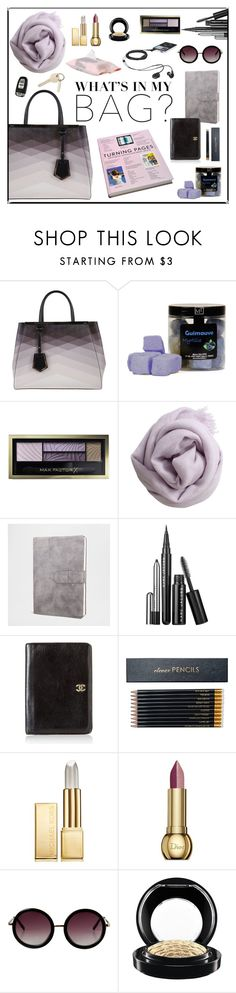 """What's in my Bag III"" by tippih ❤ liked on Polyvore featuring Fendi, Max Factor, Faliero Sarti, Zara Home, Chanel, Sloane Stationery, Michael Kors, Christian Dior, Monki and MAC Cosmetics"