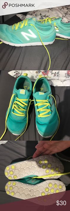 New balance gym shoes Worn a couple of times (as shown) no actual rips or stains on the shoes, I love them so much, I just never really wear them! They are VERY light!!!! New Balance Shoes Sneakers