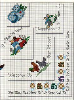 Gráficos de Ponto Cruz e Croché: Cantinhos II