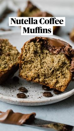 Muffin Recipes, Baking Recipes, Dessert Recipes, Coffee Dessert, Coffee Cake, Coffee Muffins, Basic Butter Cookies Recipe, Delicious Desserts, Yummy Food