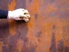 Learn how to make the rust effect--Aprende a realizar el efecto óxido