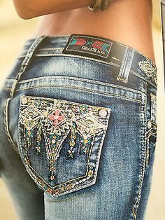 "GRACE IN LA JEANS LA idol "" SKINNY EASY FIT MULTI COLOR DIAMONDS ""DONT Miss me"
