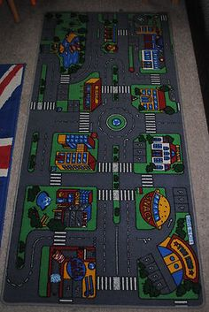 The Boys Bedroom - Large Car Play Mat : From ELC, bought second hand from Puddy Muddles (worth looking on eBay)