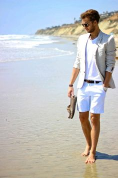 Men's summer fashion, beach