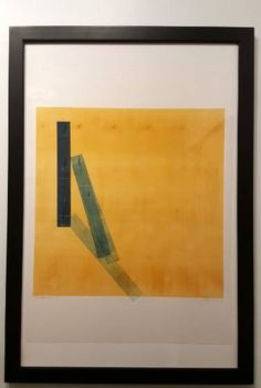 "Saatchi Art Artist Twyla Gettert; Printmaking, ""Balance- Gold & Blue - Limited Edition 1 of 1"" #art"