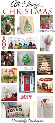 All Things Christmas... over 100 Christmas crafts, recipes and decor ideas!