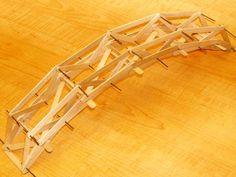 Popsicle Stick Bridge Instructions | Plan for a 30cm bridge