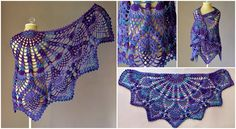Crochet Pineapple Peacock Shawl