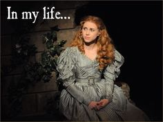 Samantha Hill as Cosette in Les Miserables