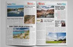 Image Result For Tabloid Newspaper Template Indesign Templates Design